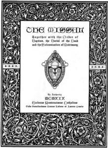 Ordo Sanctissimus-Missal